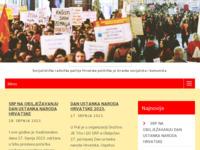 Frontpage screenshot for site: Socijalistička radnička partija Hrvatske (http://www.srp.hr/)
