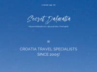 Frontpage screenshot for site: Luksuzna putovanja u Dalmaciji (http://www.secretdalmatia.com)