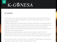Frontpage screenshot for site: k-ganesa (http://www.k-ganesa.hr)