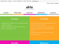 Slika naslovnice sjedišta: Akta (http://www.akta.hr)