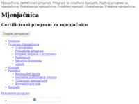 Frontpage screenshot for site: Mjenjačnica - Casarum (http://www.mjenjacnica.com/)