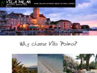 Frontpage screenshot for site: Villa Palma - Sutivan (http://www.vilapalma.info/)