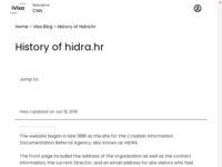 Frontpage screenshot for site: HIDRA - Hrvatska informacijsko-dokumentacijska referalna agencija (http://www.hidra.hr/)