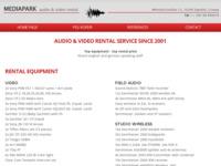 Frontpage screenshot for site: Mediapark - multimedijalni studio (http://www.mediapark.hr/)