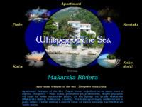 Frontpage screenshot for site: Apartmani - Mala Duba (http://www.whisper-mala-duba.com/)