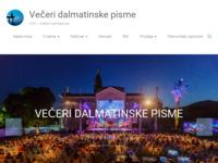 Slika naslovnice sjedišta: Večeri dalmatinske pisme (http://www.vdp.hr)