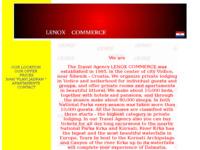 Frontpage screenshot for site: Turistička agencija Lenox, Vodice (http://www.inet.hr/~lzrnic/)