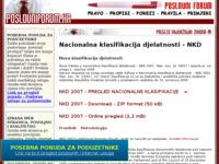 Frontpage screenshot for site: Nacionalna klasifikacija djelatnosti (http://www.poslovniforum.hr/nkd/)