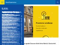 Slika naslovnice sjedišta: Grad Koprivnica (http://www.koprivnica.hr)
