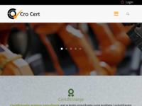 Frontpage screenshot for site: Cro Cert - Centar za certificiranje sustava upravljanja (http://www.cro-cert.hr/)