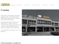 Slika naslovnice sjedišta: Cetra d.d. (http://www.cetra.hr/)