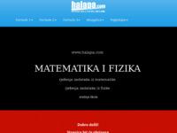Slika naslovnice sjedišta: Matematika i fizika za osnovnu i srednje škole (http://www.halapa.com)