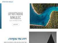 Frontpage screenshot for site: Apartmani Mikulec, privatni smještaj, Osor, otok Cres (http://www.apartmanimikulec.com/)