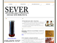 Slika naslovnice sjedišta: Sever metalski obrt i trgovina (http://www.sever-proizvodnja.hr/)