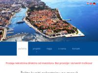 Frontpage screenshot for site: Zadar nekretnine (http://www.zadar-nekretnine.com)