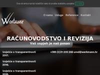 Frontpage screenshot for site: (http://www.werkmann.hr/)