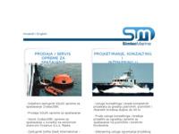 Frontpage screenshot for site: SimTec marine - design studio & project biro (http://www.simtec-marine.hr/)