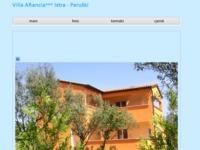 Frontpage screenshot for site: Villa Aeancia - Peruški (http://www.arancia.cash.hr)