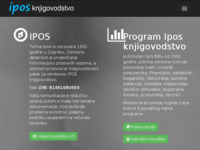 Frontpage screenshot for site: (http://www.ipos.hr)