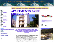 Slika naslovnice sjedišta: Apartments Azur (http://www.inet.hr/~krpetric/index.html)