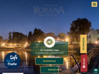 Frontpage screenshot for site: Hotel Korana (http://www.hotelkorana.hr/)