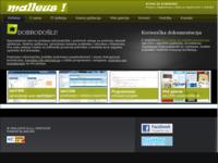 Slika naslovnice sjedišta: Malleus d.o.o. - CMS, web aplikacije (http://www.malleus.hr)