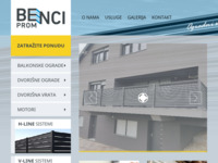 Frontpage screenshot for site: Benci - Prom d.o.o. - ograde (http://www.benci-prom.hr)