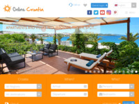 Frontpage screenshot for site: Croatica - putnička agencija (http://www.online-croatia.com)