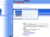 Frontpage screenshot for site: Senčar-Metal (http://www.sencar-metal.hr/)