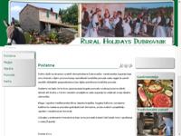 Slika naslovnice sjedišta: Seoska ruralna domaćinstva Dubrovačko-neretvanske županije (http://www.dubrovnikruralholidays.com)