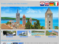 Frontpage screenshot for site: Apartmani na otoku Rabu (http://www.otokrab.biz/)