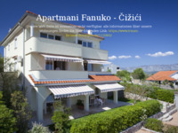 Frontpage screenshot for site: Apartmani Fanuko, Čižići, otok Krk (http://www.apartmani-fanuko.com)