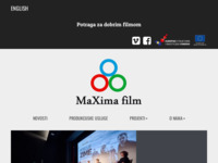 Frontpage screenshot for site: (http://www.maxima-film.hr)