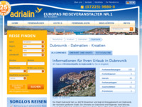 Frontpage screenshot for site: Dubrovnik (http://www.kroatien-adrialin.de/ortsinfos/dubrovnik/)