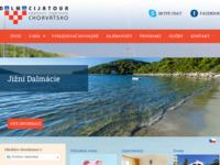 Frontpage screenshot for site: Dalmacijatour - putnička agencija (http://www.dalmacijatour.cz)