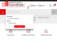 Frontpage screenshot for site: (http://www.gavroprom.hr/)