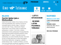 Frontpage screenshot for site: (http://www.filmski-programi.hr/palunko)