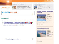 Frontpage screenshot for site: (http://www.kroatien-links.de/privat-kvarner.htm)