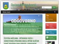 Slika naslovnice sjedišta: Službene stranice općine Kloštar Ivanić (http://www.klostar-ivanic.hr)