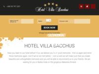 Frontpage screenshot for site: Hotel Bacchus - Baška Voda (http://www.hotel-bacchus.hr/)