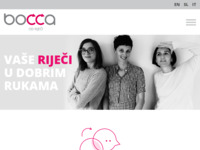 Frontpage screenshot for site: (http://www.bocca.hr/)