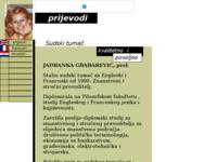 Frontpage screenshot for site: Ovlašteni sudski tumač za engleski i francuski (http://www.inet.hr/~jgrabare/)