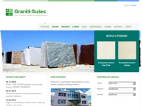 Frontpage screenshot for site: Graniti - Sušec d.o.o. (http://www.graniti-susec.hr/)