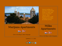 Frontpage screenshot for site: Vila Milka i Marijana (http://www.inet.hr/~mgrce/)