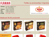 Frontpage screenshot for site: Flamma d.o.o. - Rijeka (http://www.flamma.hr/)