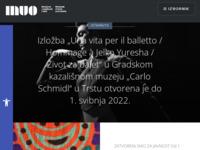 Frontpage screenshot for site: Muzej za umjetnost i obrt u Zagrebu (http://www.muo.hr/)