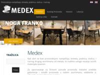 Frontpage screenshot for site: Medex d.o.o. (http://www.medex.hr/)