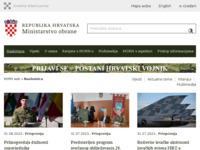 Slika naslovnice sjedišta: Ministarstvo obrane Republike Hrvatske (http://www.morh.hr/)