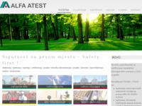 Slika naslovnice sjedišta: Alfa atest d.o.o. (http://www.alfa-atest.hr)