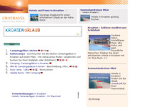 Frontpage screenshot for site: (http://www.kroatien-links.de/camping-istrien-kvarner.htm)
